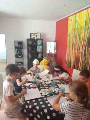 ateliere copii Bucuresti Saptamana picturii tempera carton Anaid Art Gallery