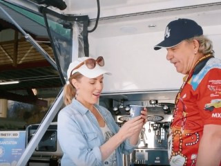 Coffee on wheels with royal flair!