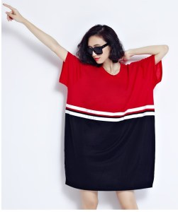 Big Size Women T-Shirt Striped Print Cotton Summer Style T-Shirt Fashion Female Tops&Tees Loose Plus Size Patchwork New T-Shirt