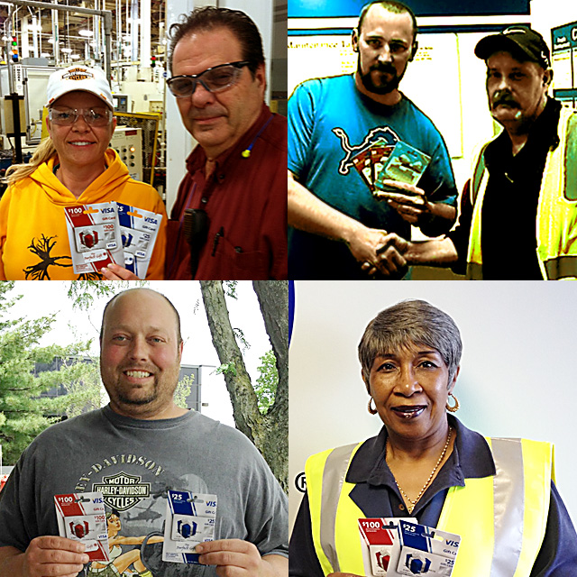 May 2015 Safety Incentive Program Winners