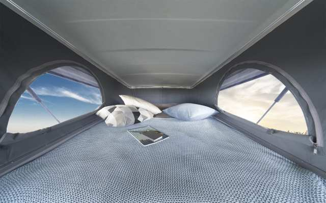 Laika Latest Motorhomes pop-up roof with double bed
