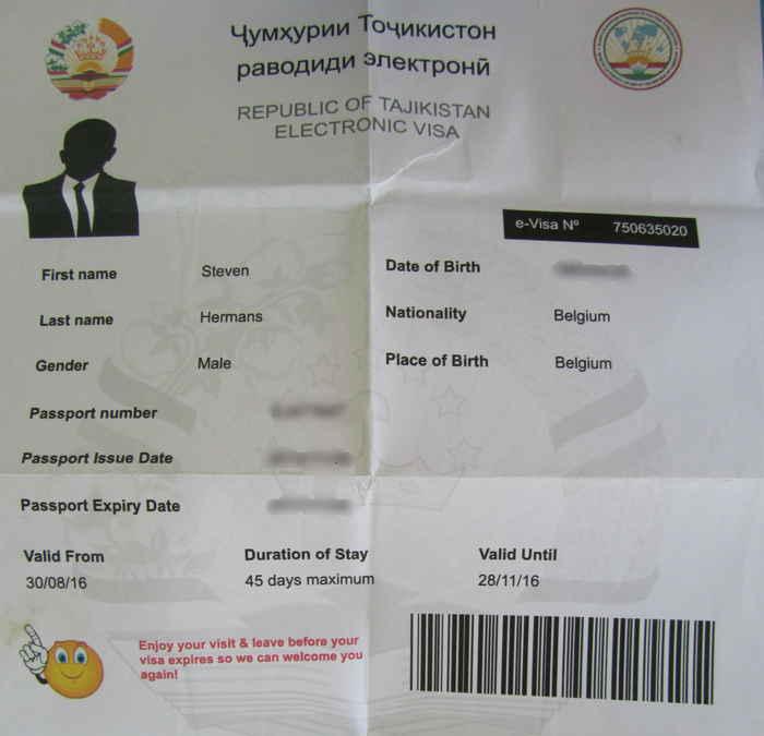 tajikistan visa guide caravanistan