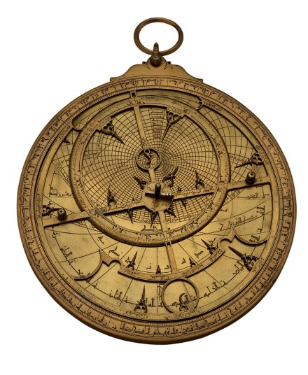 Astrolabe, Spain or North Africa, 1236/37. Brass. Adler Planetarium, Chicago, IL, M-35. Photograph courtesy of Adler Planetarium Astrolabes served many functions in the Islamic world. These highly sophisticated instruments were used to wayfind, tell time, survey land, and verify the direction of Mecca, which Muslims face when praying. The astrolabe was also used to calculate the relative position of stars and planets.