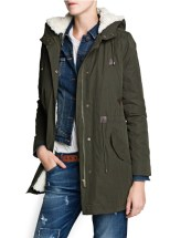Mango, Faux-Sherling Hooded Parka, Php 8,450