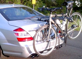 mercedes  class bike rack modern arc based design