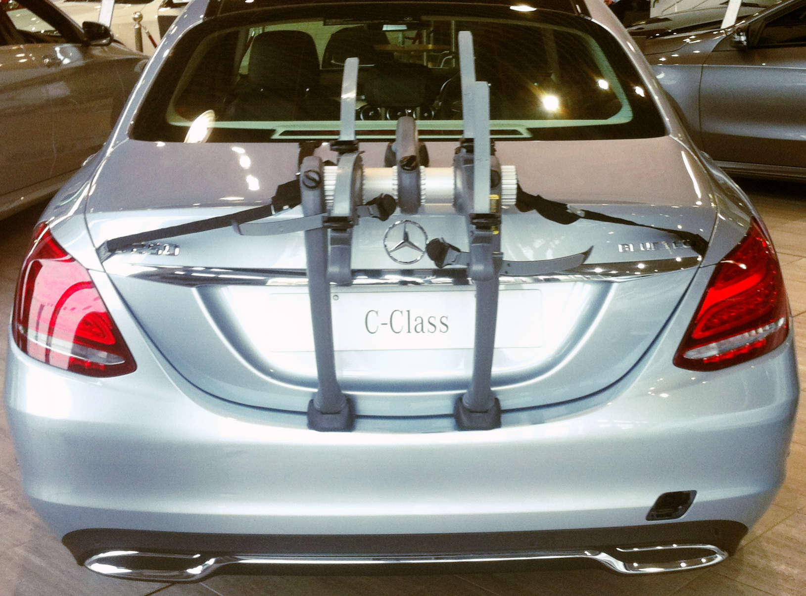 Mercedes c class saloon bike rack modern arc based design for Mercedes benz bicycle rack