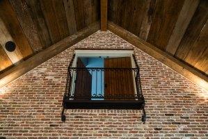 Vintage balcony door