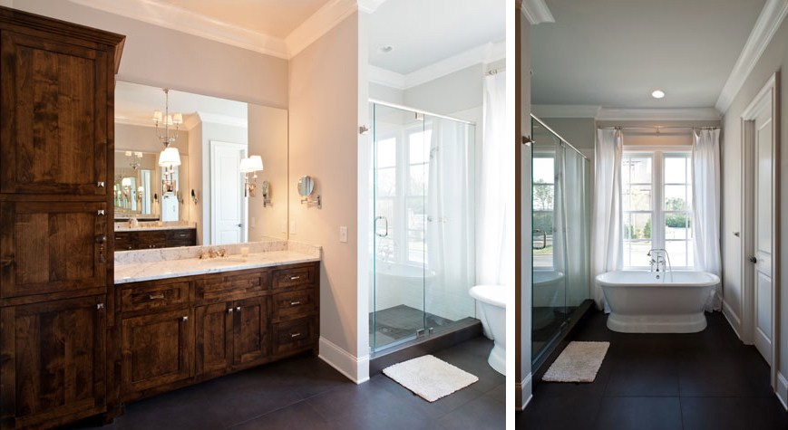New Home Custom Bathroom by Carbine & Associates