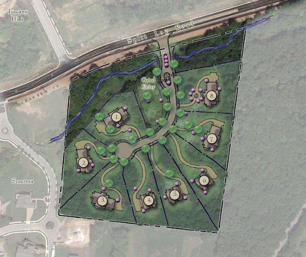 Terrabrooke Site Plan Rendering, Carbine & Associates, Franklin, TN