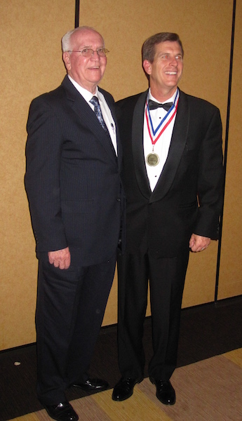James Carbine and his father on the night James was inducted into the Home Builders Association of Tennessee Hall of Fame.