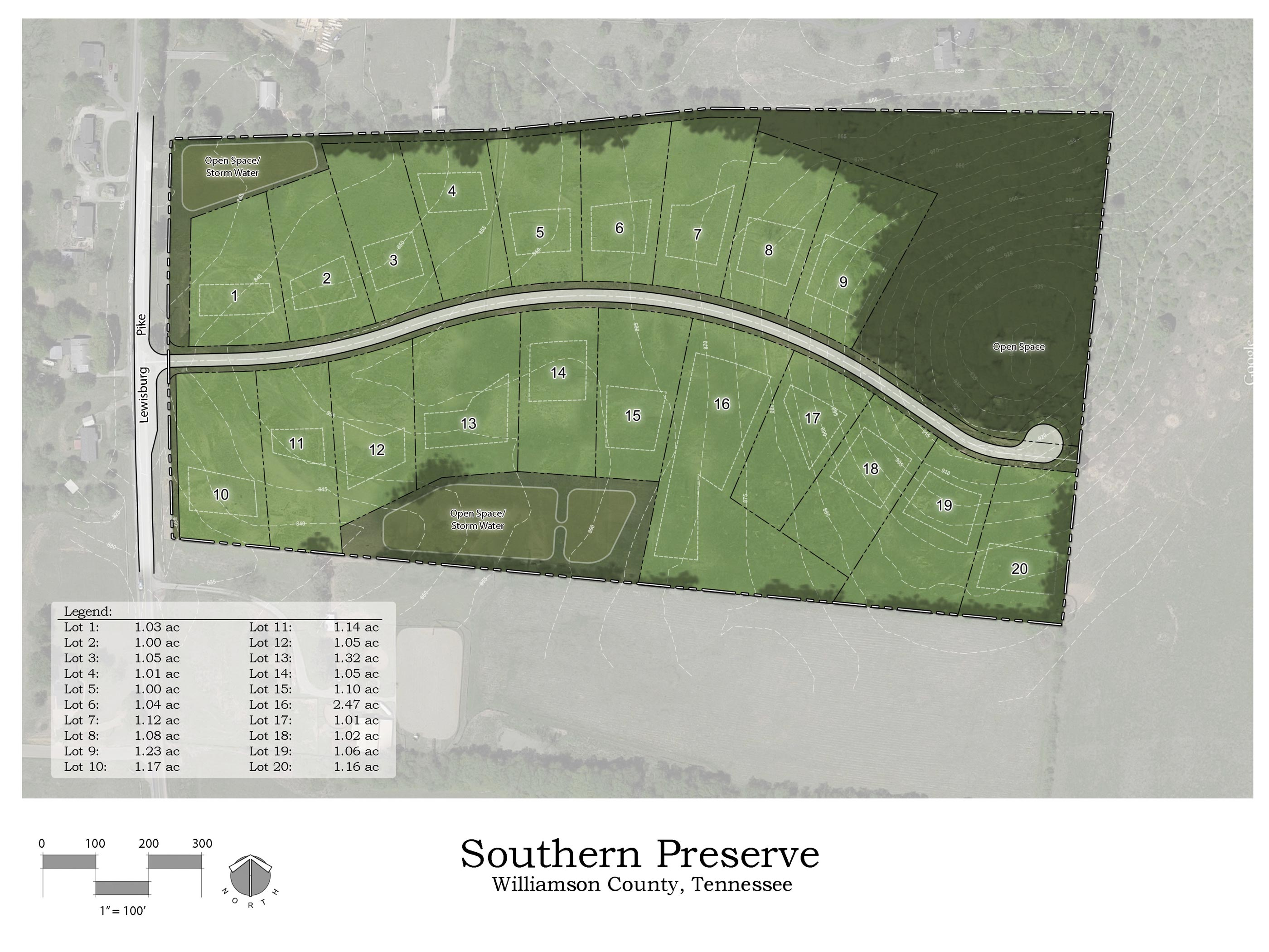 Site rendering of Southern Preserve by Jason Goddard