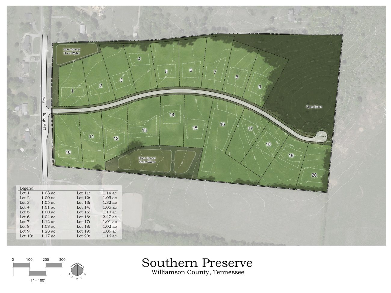 Site rendering of Southern Preserve by Jason Goddard