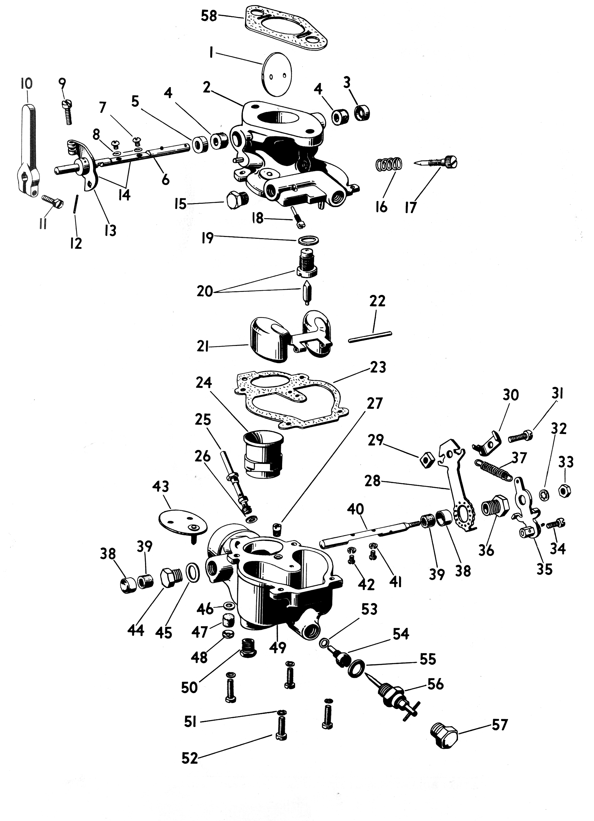 Model A Zenith Carburetor Diagram