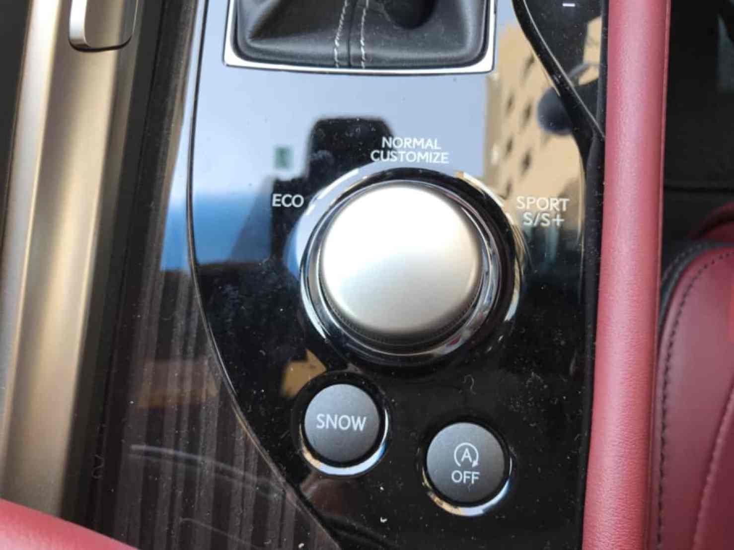 レクサスGSのドライブモード切り替えスイッチ