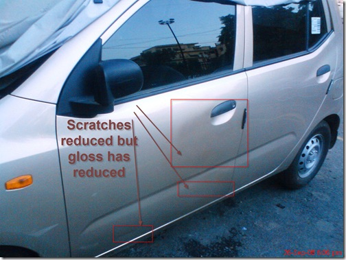 scratches reduced but gloss also reduced