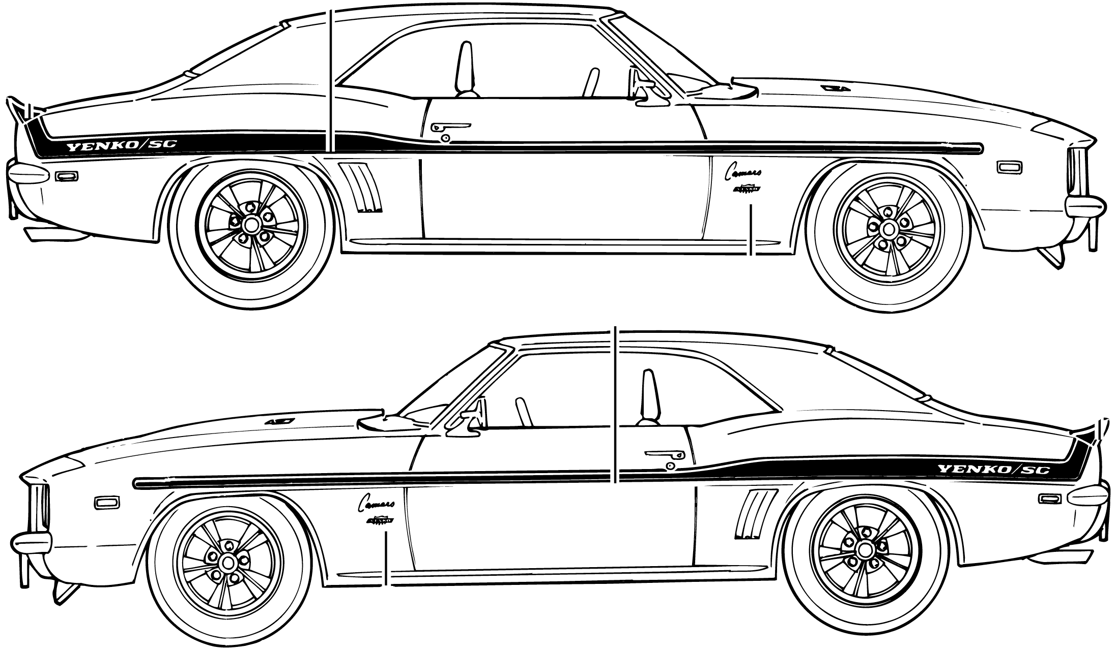 69 Chevelle Ss Car Drawings Coloring Pages