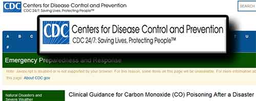 CDC-Carbon Monoxide Guidance After a Disaster
