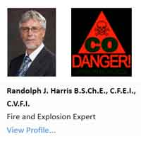 Randolph J. Harris, Fay Engineering, carbon monoxide experts
