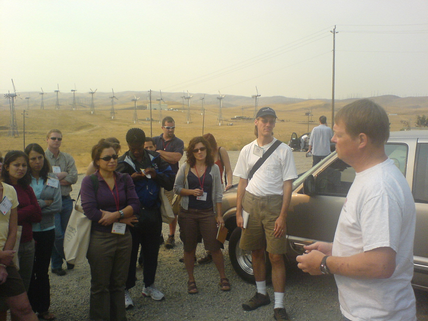 SEJ conference tour on California's Altamont Pass