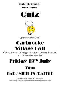 Carbrooke Church Quiz @ Carbrooke village Hall
