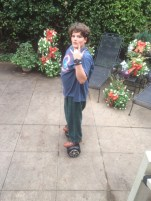 Lady Killer on his Hoverboard