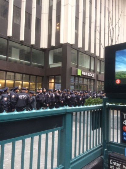 New NYPD about to start their shift