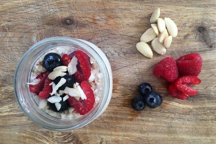 Perfect diabetic breakfast -overnight oats