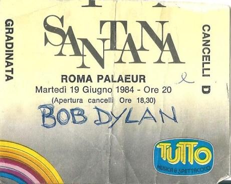 Santana and Bob Dylan