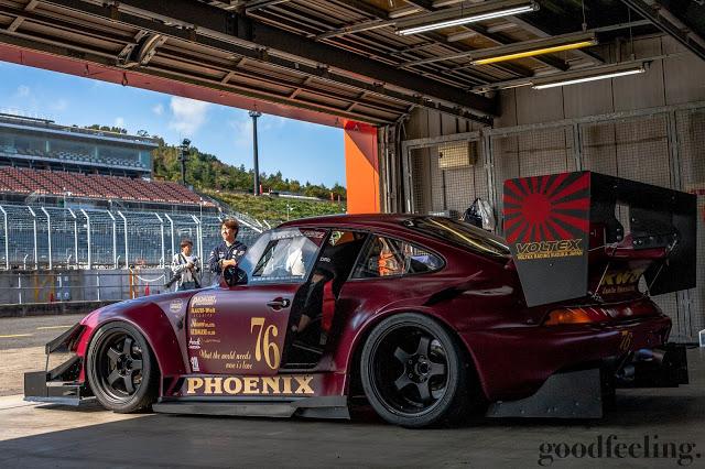 """RWB Porsche 993 nicknamed """"Phoenix"""" in purple, side profile view"""
