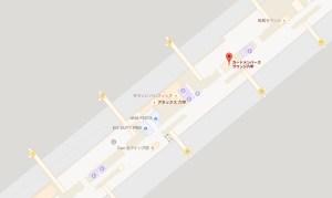 関西国際空港 ラウンジ六甲の地図(第1ターミナル2階 北ウイング)