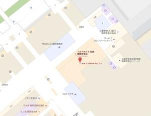 関西国際空港 KIXエアポートラウンジの地図