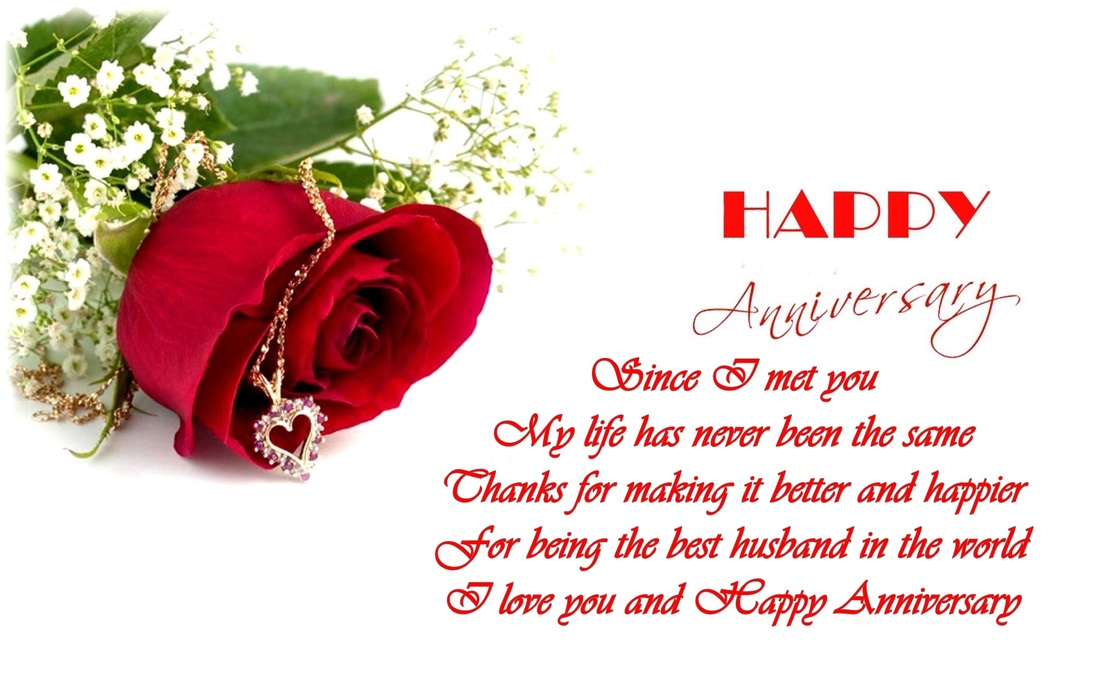 Husband Wedding Anniversary Verses Card Verses Greetings And Wishes