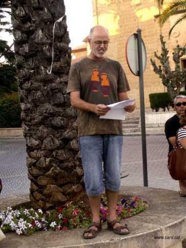 Concentració a la plaça de l'esglèsia contra la reforma de la llei de funció pública