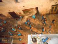 Una bona imatge de les poalades d'aigua que es tiraven des dels balcons