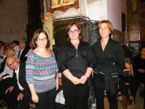 Fotos Trobada Corals Manacor, Directora del IMAS Apolonia Vanrell, directora coral Catalina Garí, pianista Pertra Riera