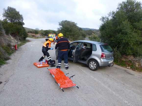 Protecció civil simulacre accident trànsit000