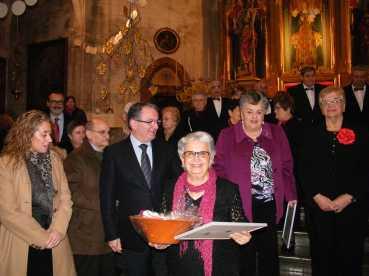 Batle Joan Rotger, presidenta en funcions Josefina Colom i directora Margalida Barceló fotos Trobada de Corlas Selva 12-01-2014 035