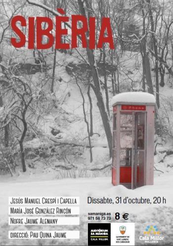 Sibèria, el 31 d'octubre a l'Auditori sa Màniga