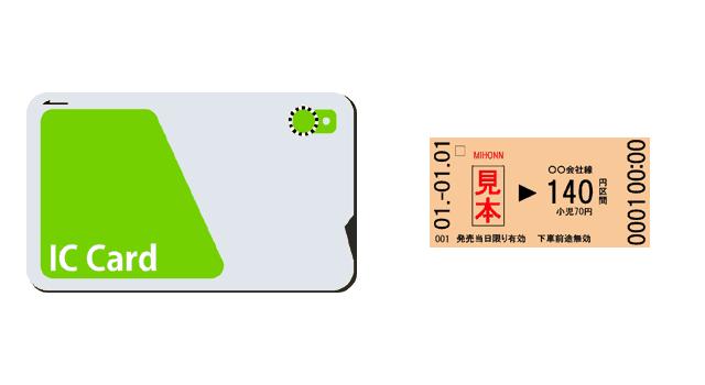 ICカードと切符
