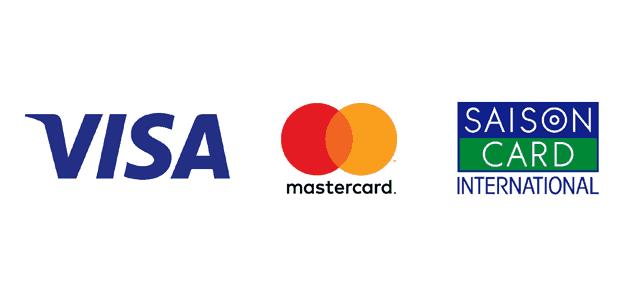 VISA、Mastercard、セゾン