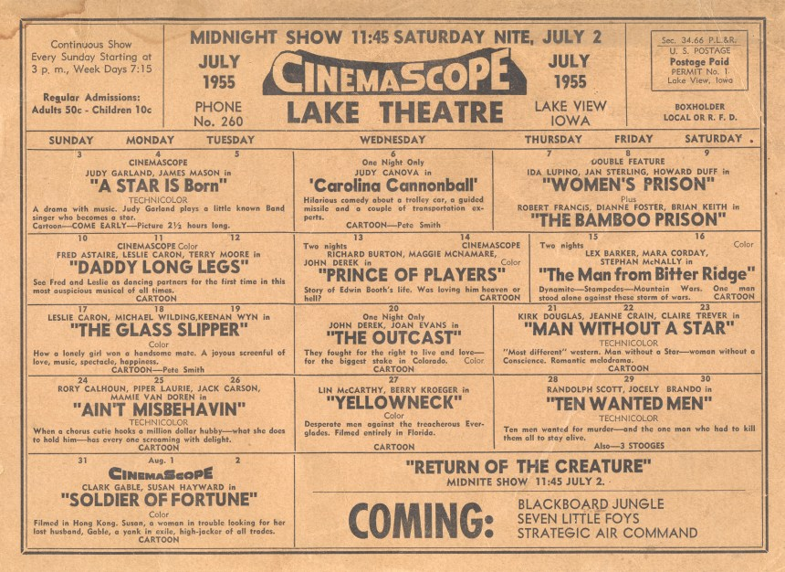 1955 - Lake Theatre - Lake View, Iowa