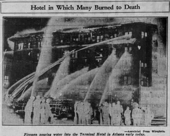 The Terminal Hotel Fire – Atlanta, Georgia