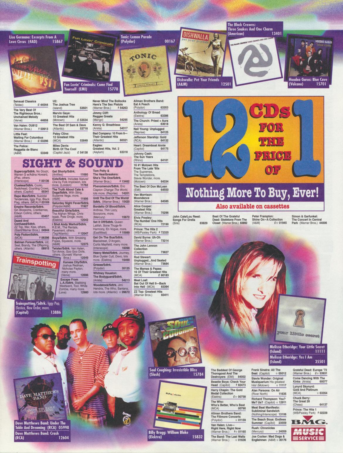 1997 BMG Music Insert