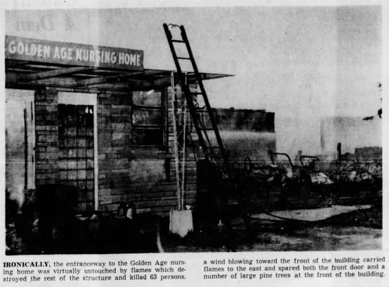 Golden Age Nursing Home Fire – November 23, 1963
