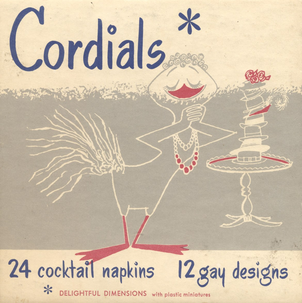 1954 Cordials Cocktail Napkins
