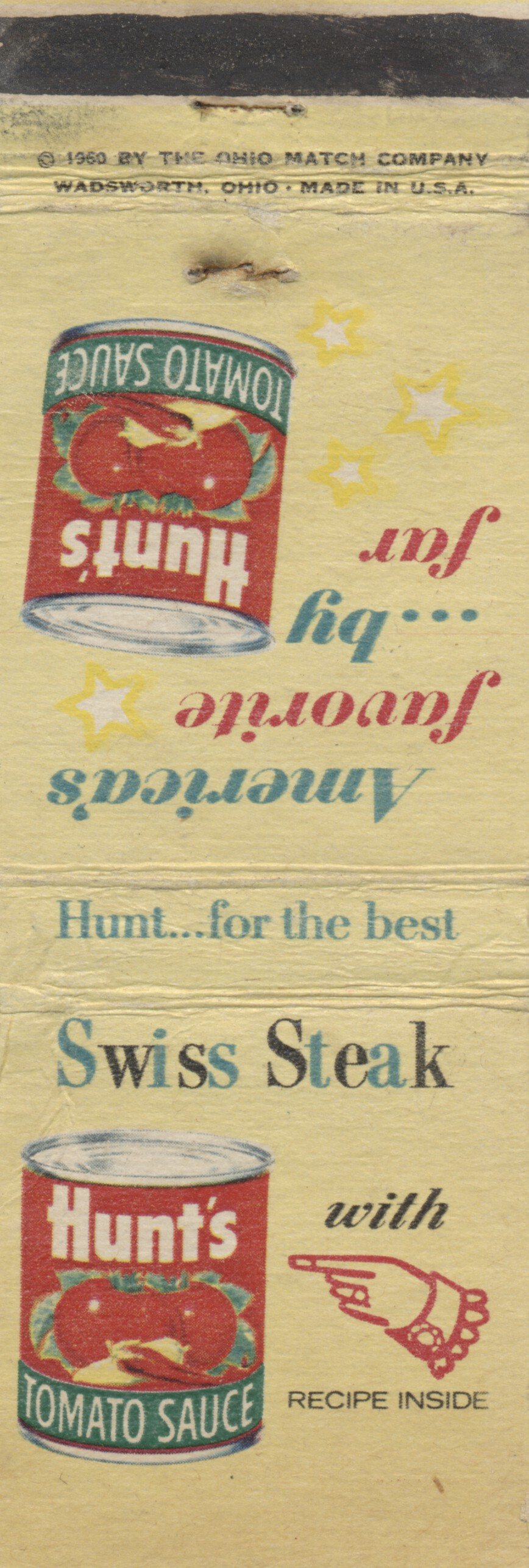 Hunt's Recipe Matchbooks, Vol. 4