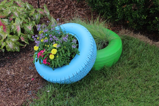 What better way to recycle nasty old tires?