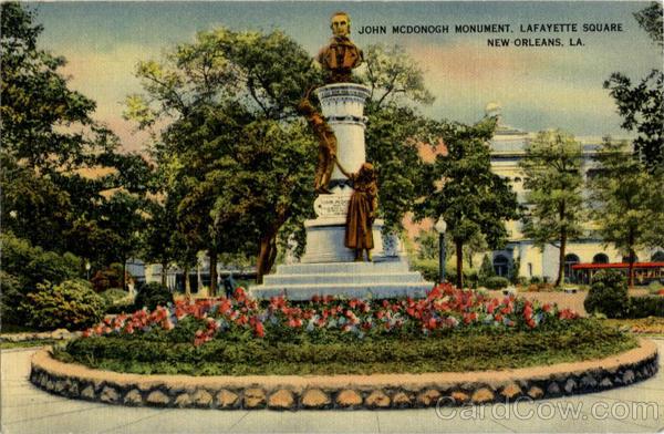 John McDonough Monument Lafayette Square New Orleans LA