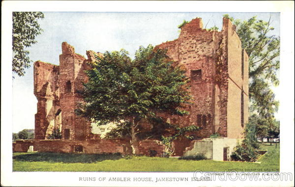 Ruins Of Ambler House Jamestown VA