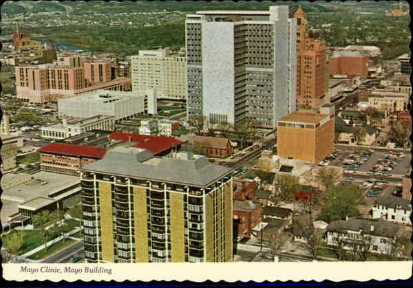 Aerial View Of Mayo Clinic Mayo Building Rochester MN